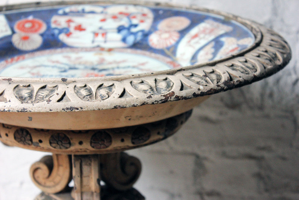 An Unusual Late 19thC Italian Carved & Painted Jardinière Stand