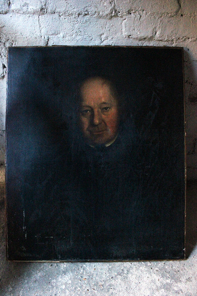 A Good Mid 19thC British School Oil on Canvas Portrait of a Gentleman