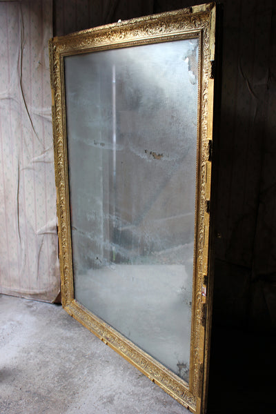 A Stunning Large 19thc French Giltwood Amp Gesso Wall Mirror