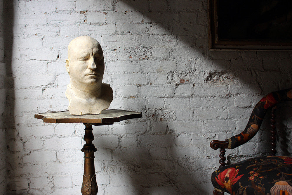 A Particularly Large Mid-20thC Plaster Death Mask of a Gentleman