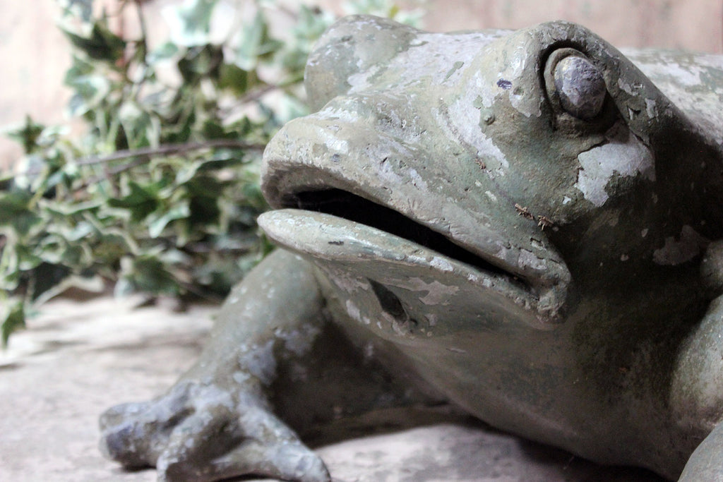 A Large Mid-20thC Lead Garden Model of a Frog