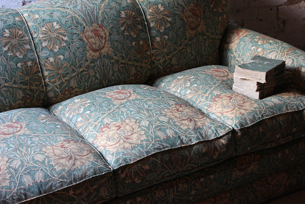 A Beautiful Liberty Fabric Upholstered Edwardian Period Three-Seater Sofa c.1910