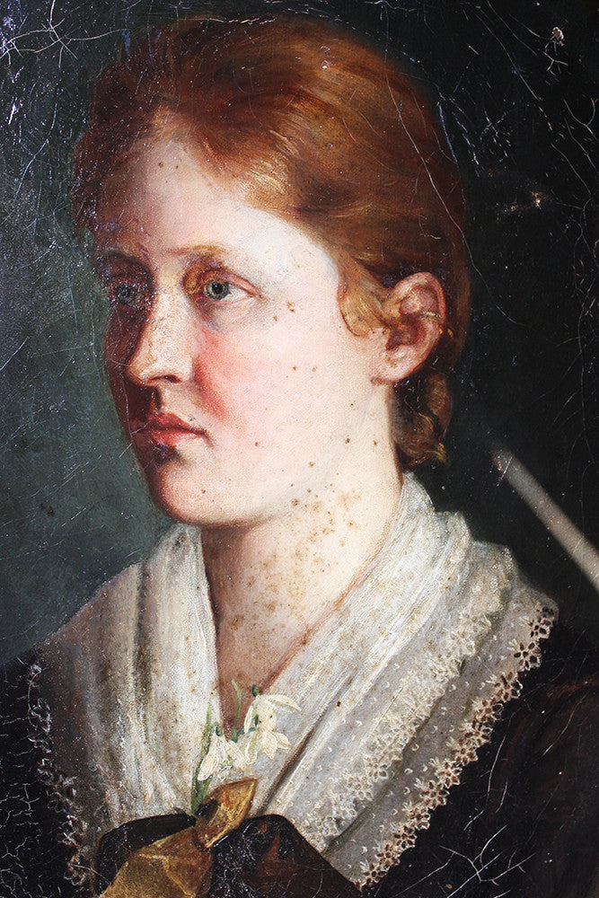 Follower of Charles Sillem Lidderdale; A Fine c.1880 Portrait of a Young Lady