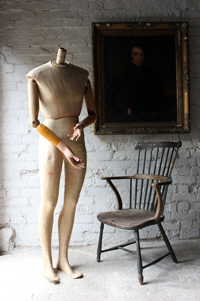 A Good Mid 20thC Life Size Articulated Shop Display Mannequin