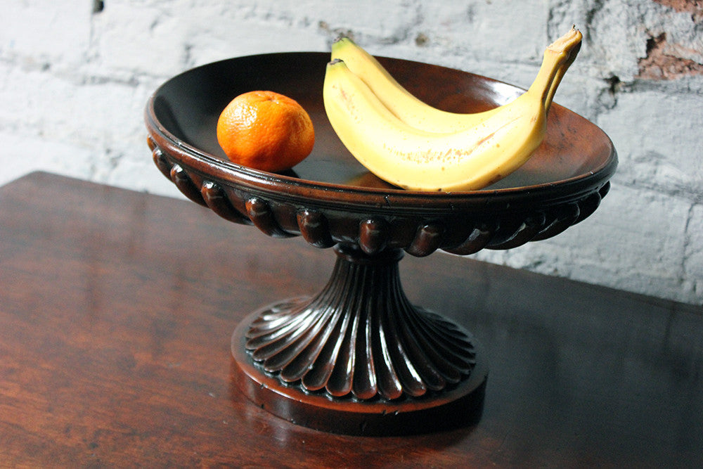 A Good George III Revival Mahogany Turned Tazza c.1910