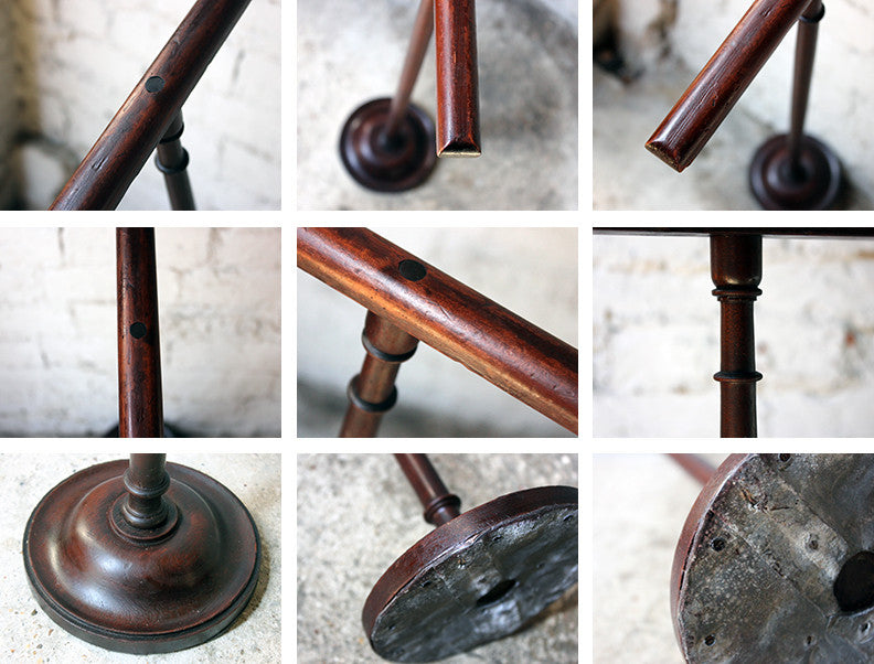 A Rather Unusual Early 20thC Mahogany Gentleman's Towel Rail Stand c.1910