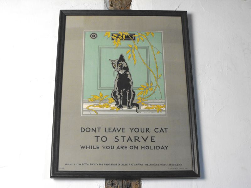 An Original 1930s Helen Byrne Bryce Coloured Lithograph Poster, Issued by the RSPCA, No. 238