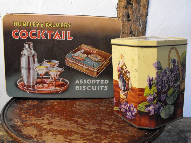 A Collectable Pair of Vintage Huntley & Palmer Tins