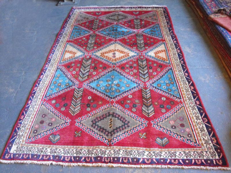 A Quirky Semi Old Sirjan Carpet 275cm x 150cm