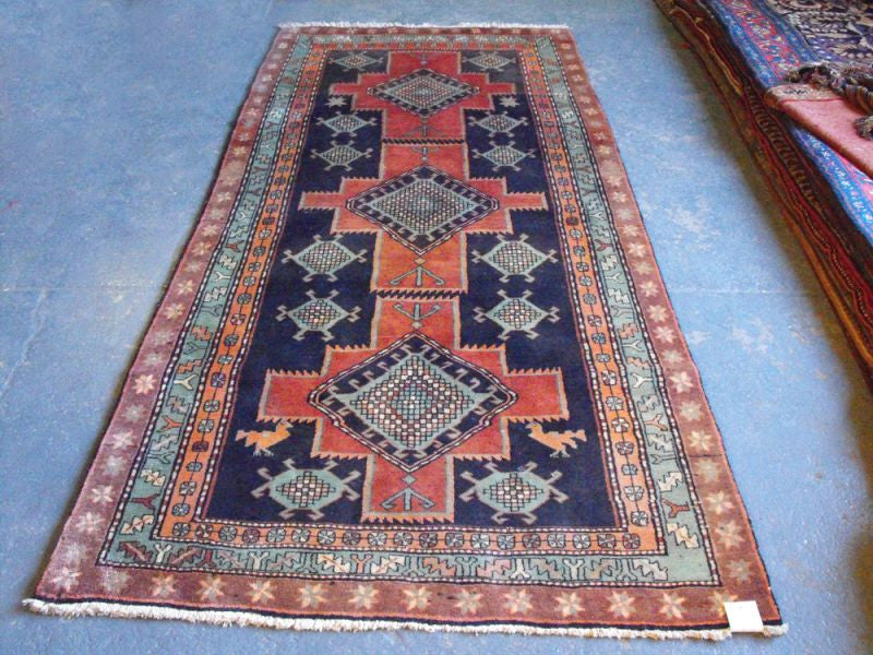 A Cheerful Semi Old Persian Goravan Runner 280cm x 120cm