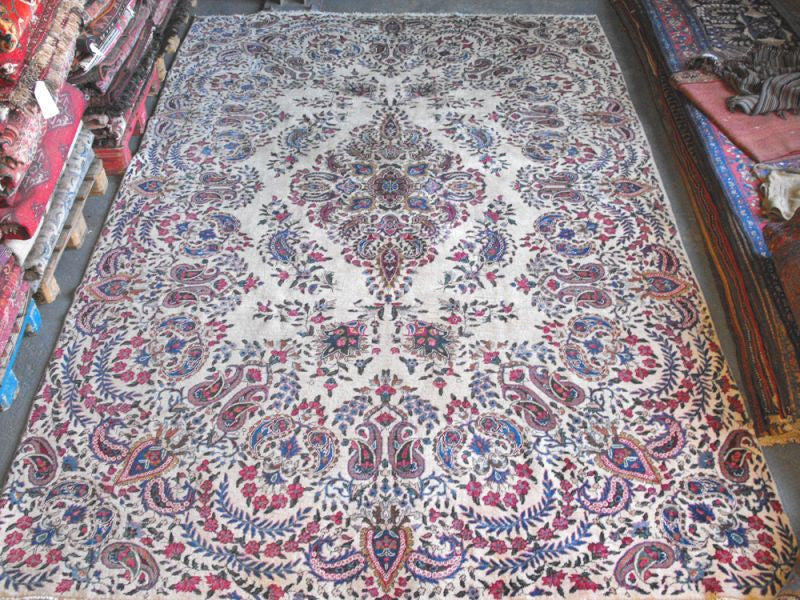 A Stunning Semi Old Yazd Carpet 360cm x 245cm