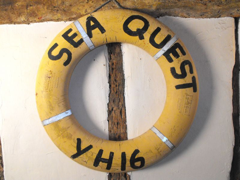 A Vintage Gt. Yarmouth Marine Life Buoy / Perry Buoy from the 'Sea Quest'
