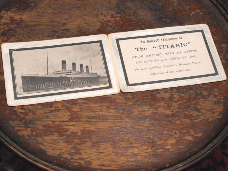 "A Touching RMS Titanic Memorial Card: In Sacred Memory of ""The Titanic"""
