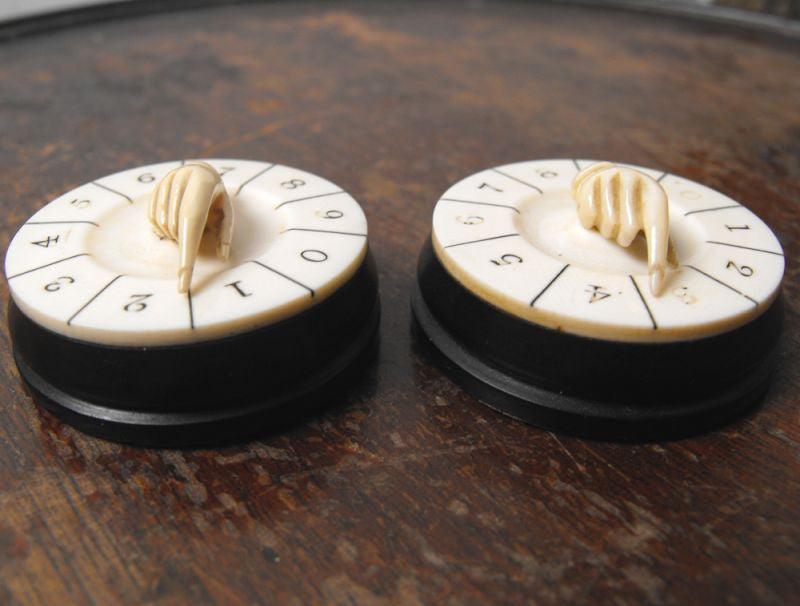 A Very Fine Pair of Ivory Finger Scorers / Playing Counters
