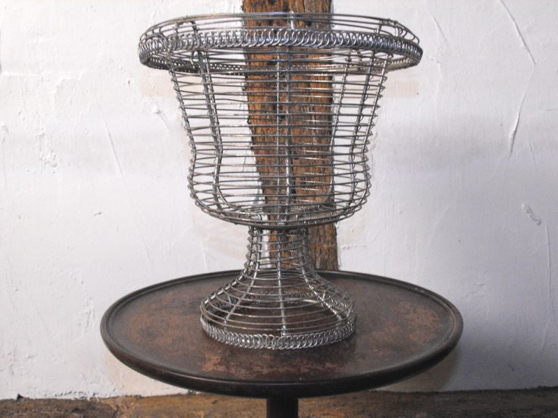 An Early 20thC Wirework Egg Stand in the Form of an Urn