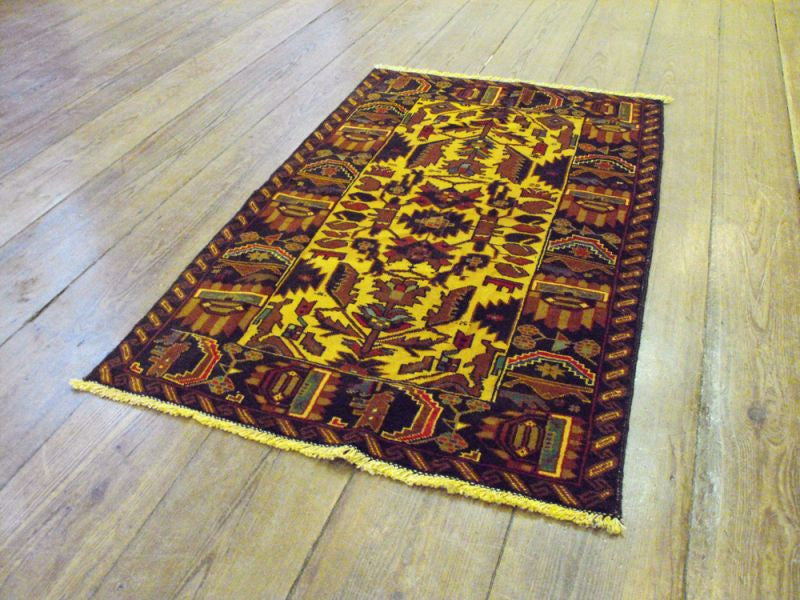 A Cheerful Herat Belouche Rug: 136cm x 79cm