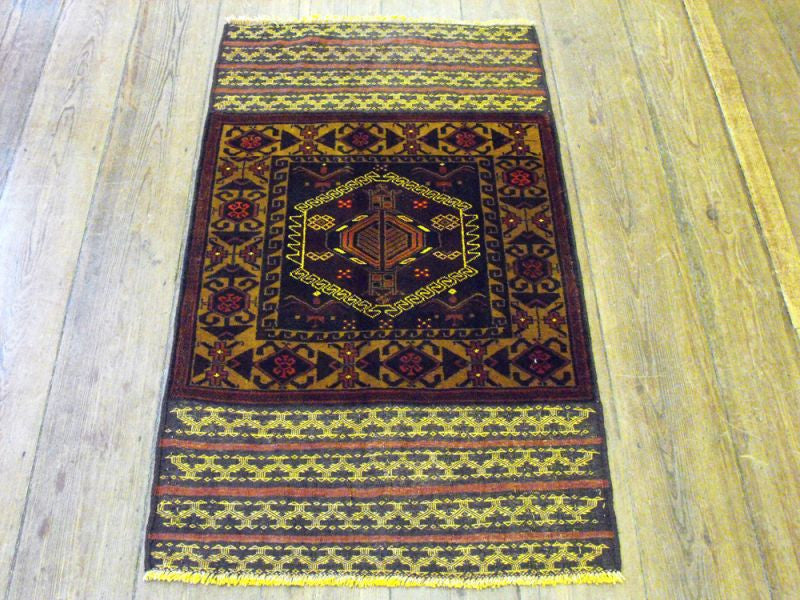 An Unusual Herat Belouche Rug: 145cm x 82cm
