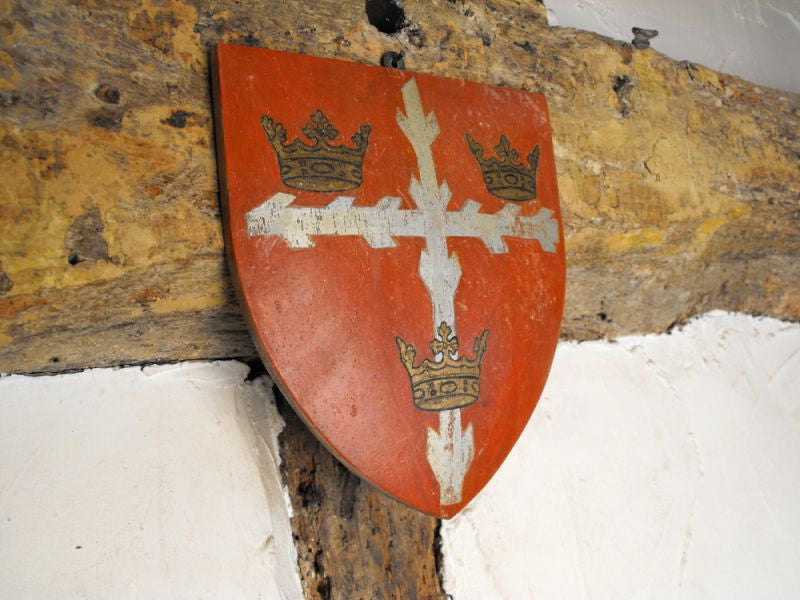 Two Resplendent Heraldic Armorial Convex Shields, To Include One for Colchester