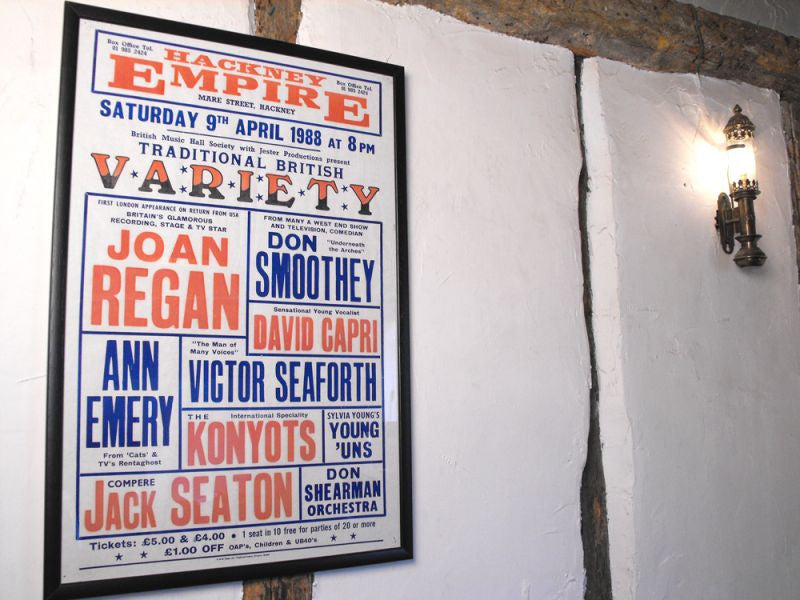 An Original Vintage Billboard Theatre Poster for The Hackney Empire