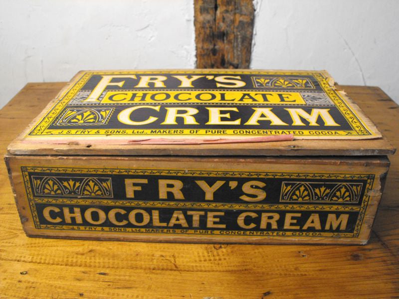 A Decorative Antique Pine J. S. Fry & Sons Chocolate Cream Display Counter Box