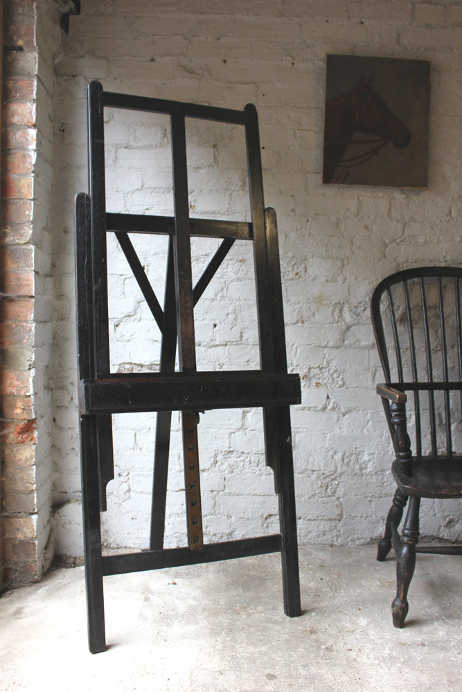 A Superb 19thC Ebonised Gallery Artist's Easel
