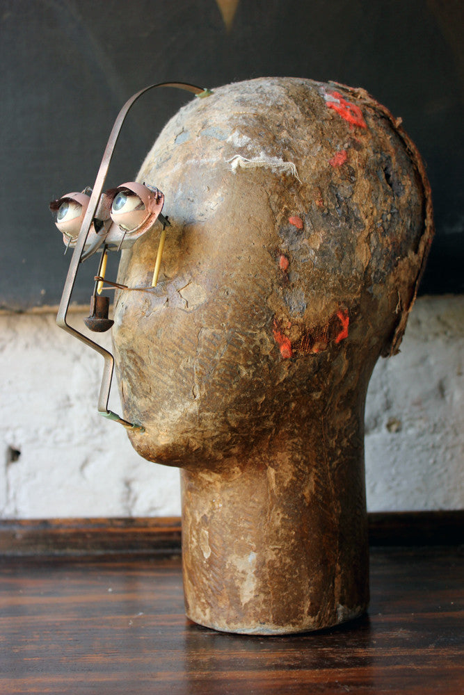 An Unusual Early 20thC Shop Window Display Automaton Head