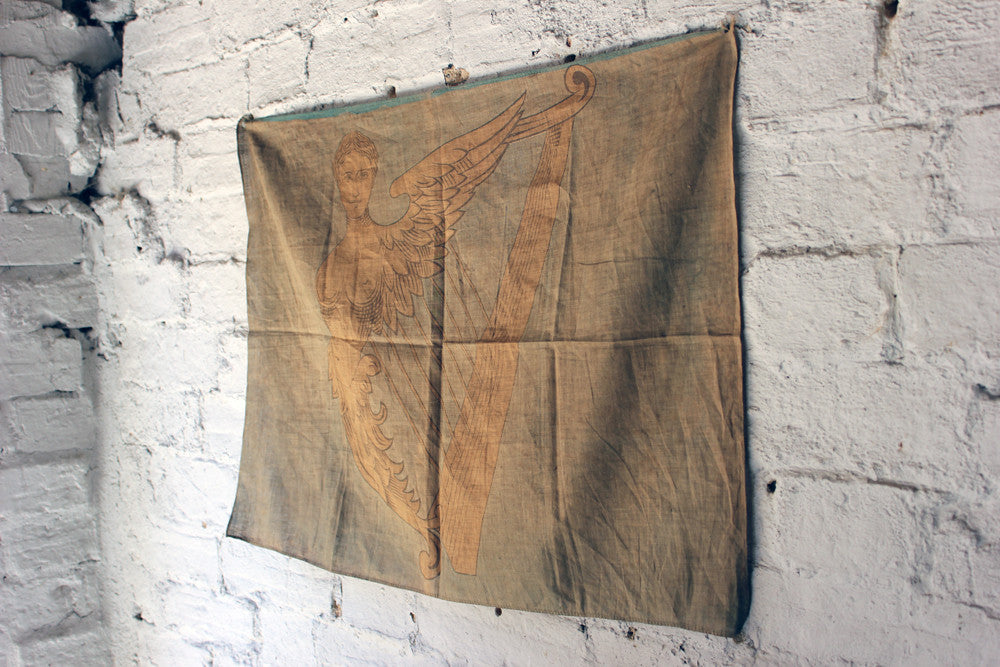 A Scarce & Early Green Harp Flag / Naval Jack of Ireland c.1890