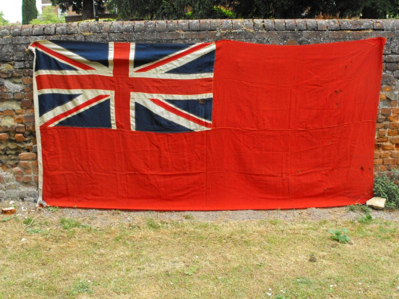 A Gigantic British Vintage Royal Navy Red Ensign Flag