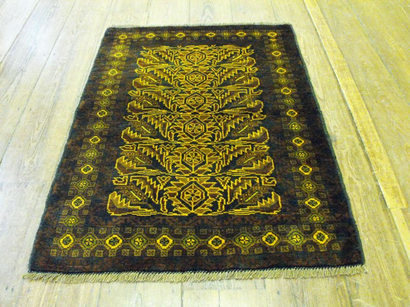 An Unusual Herat Belouche Rug: 139cm x 89cm