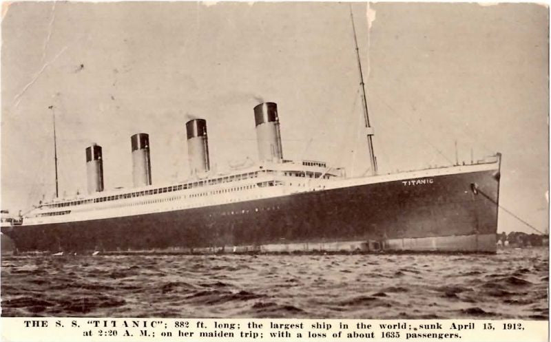 R.M.S. TITANIC: Kraus of New York Postcard, Postally used May 31st, 1912, Nebraska, Possibly Written by a Titanic Survivor