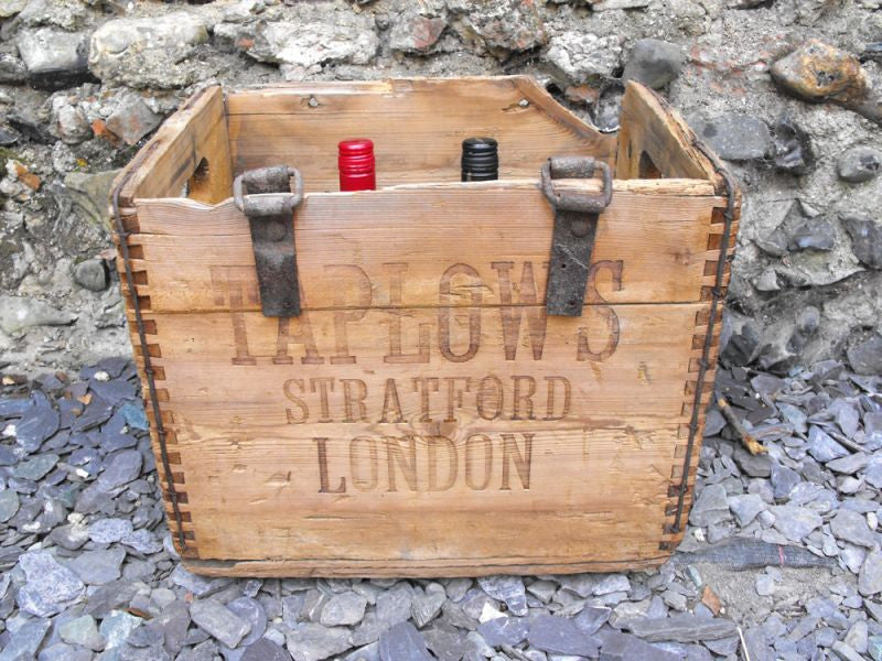 A Fine Early 20thC Vintage Pine Wine Crate; Taplow & Co, Wine & Spirit Merchants