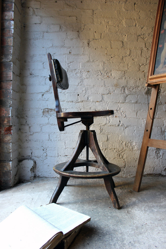 A Good c.1900 Artist's Chair by Glenister of High Wycombe
