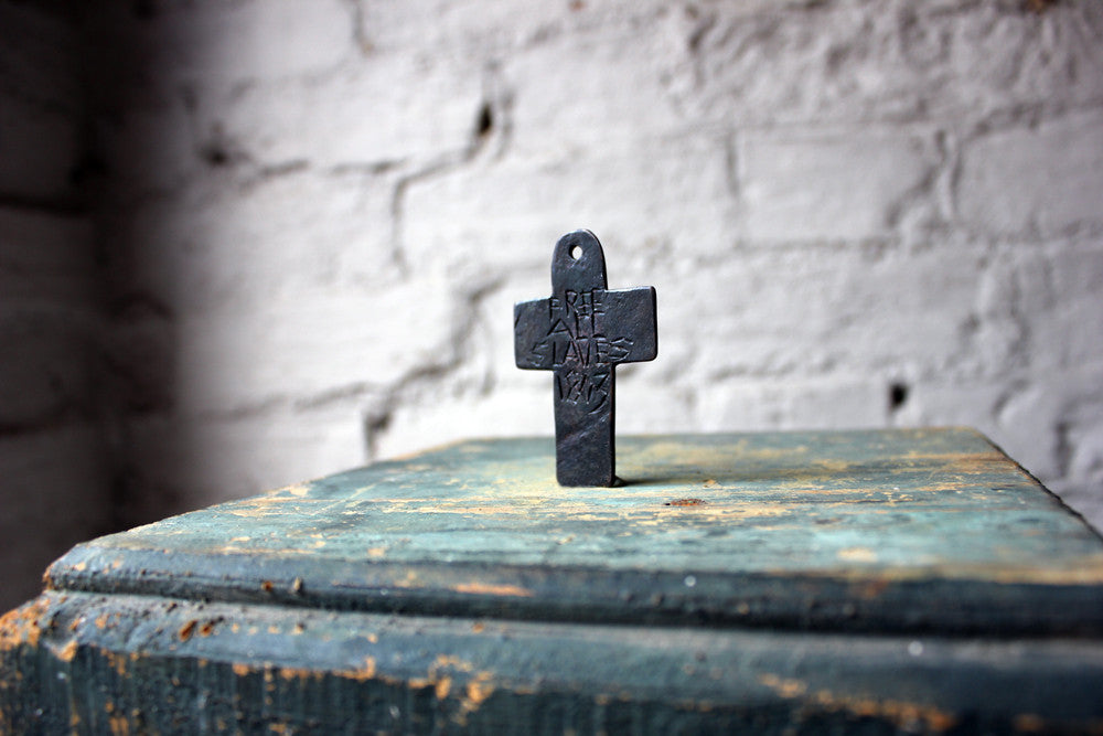 A Very Rare & Interesting Copper Slavery Abolitionist Cross Pendant Dated to 1803