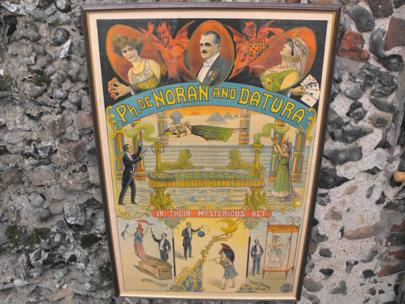 A Rare Early 20thC Original Affiches Marci Lithograph in Colour; 'Noran (Ph. de) & Datura in their Mysterious Act'