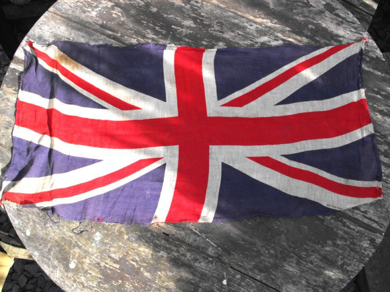 A Good Soft Cotton British Vintage Printed Union Jack Flag