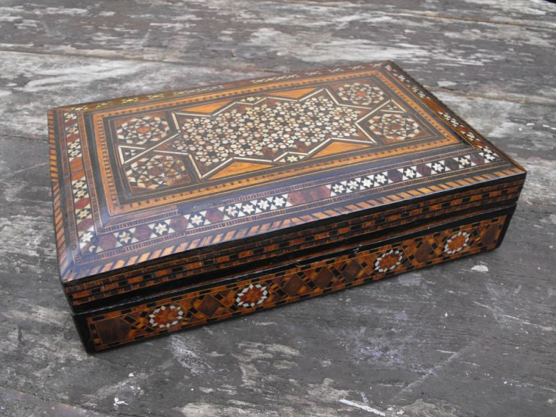 A Profusely Inlaid Moorish Cigar Box