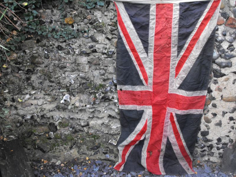 A Medium Sized Quality Vintage Applique WWII Period Union Jack Flag