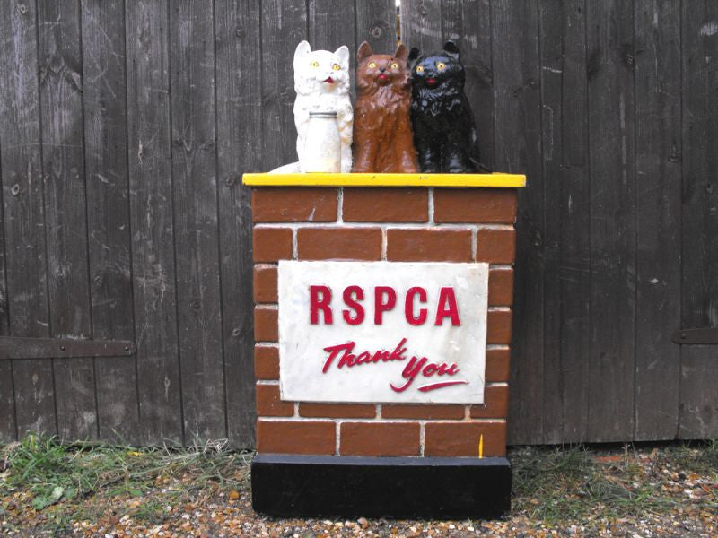 A Comical Mid 20thC Vintage RSPCA Charity Collection Box