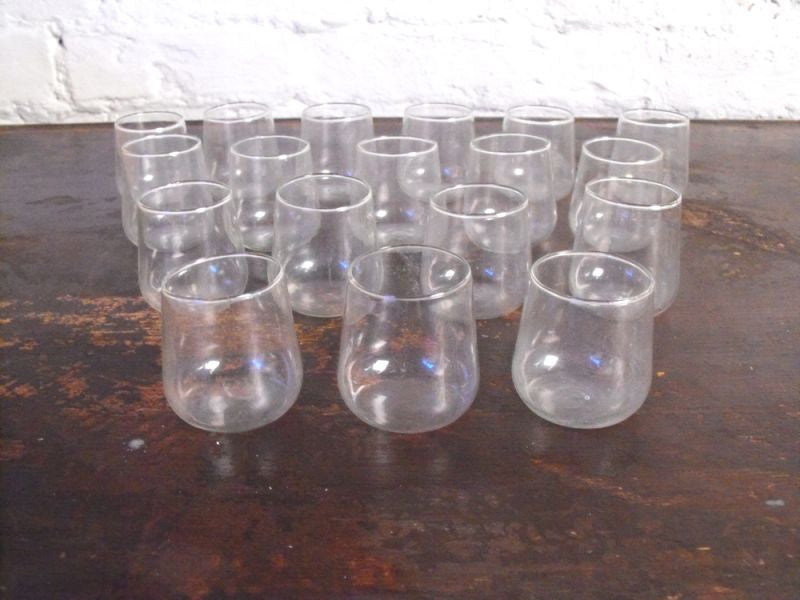 An Interesting Group Of Eighteen 19thC Hand-Blown Cupping Glasses