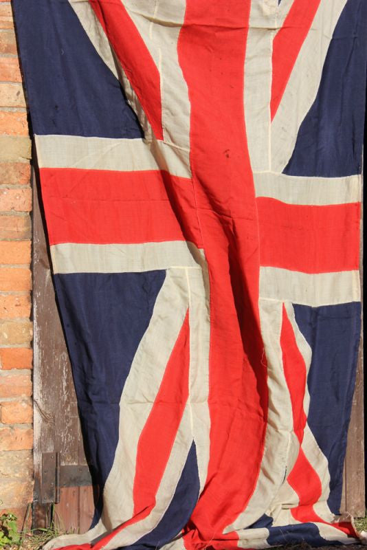 A Very Large Quality Antique Appliqué Edwardian Period Union Jack Flag
