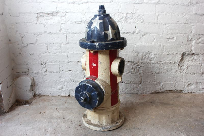 An American c.1961 Folk Art Painted 5 ¼ Valve Fire Hydrant, Cast by Mueller & Co.