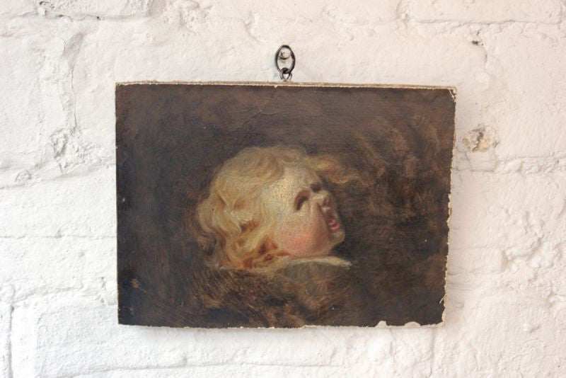 An Atmospheric Oil on Canvas; Anon; `Screaming Child`