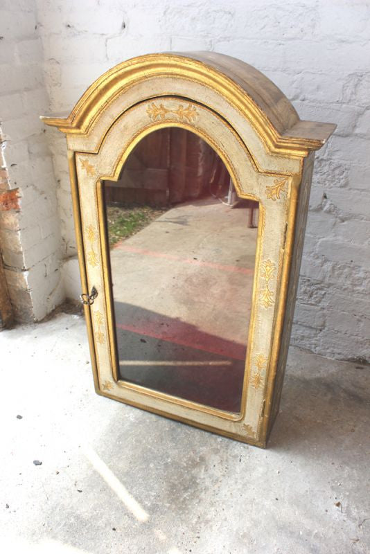 A Decorative Mid 20thC Italian Gilt Style Wall Display Cabinet