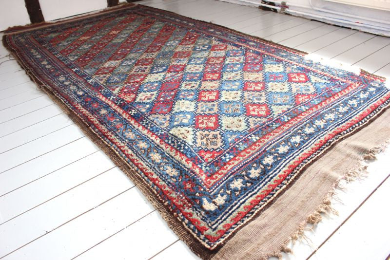 A Handsome Early 20thC Quchan Kurdish Rug, 259cm x 109cm