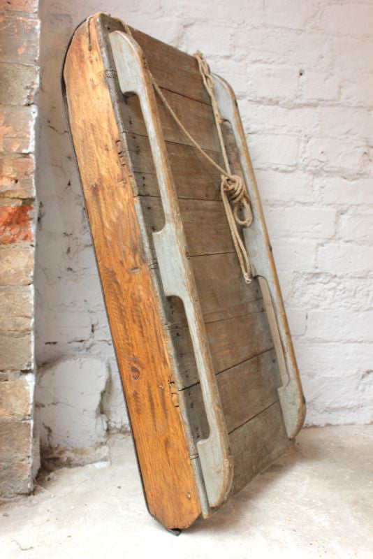 A Gorgeous Mid 20thC Painted French Oak Sledge
