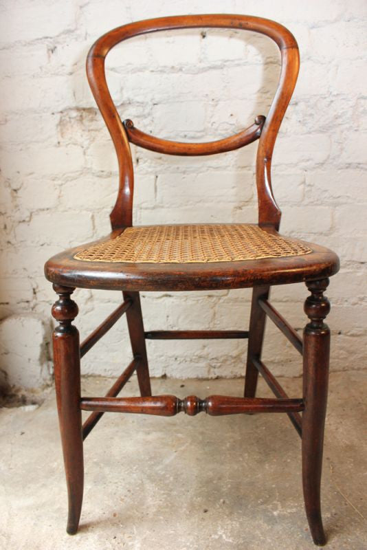 A Very Pretty Victorian Walnut Balloon Back Child's Chair