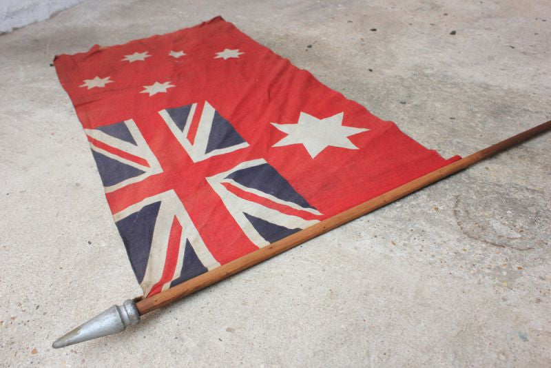 A Good British Empire Australian Red Ensign Flag Mounted on a Pole