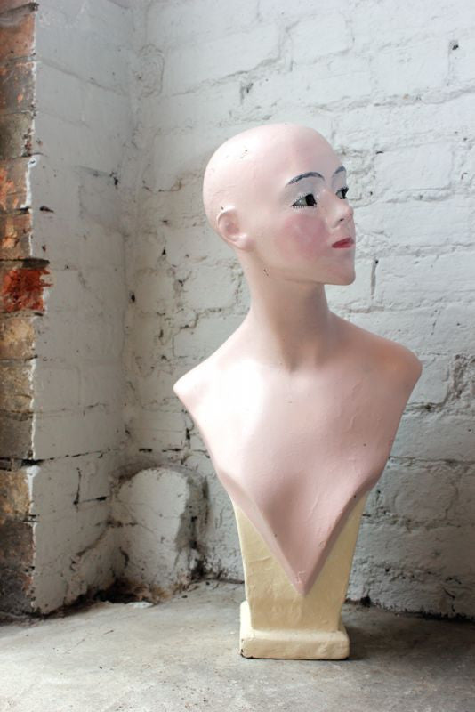 A Scarce Art Deco Period Hairdressers' Wig Mannequin c.1930
