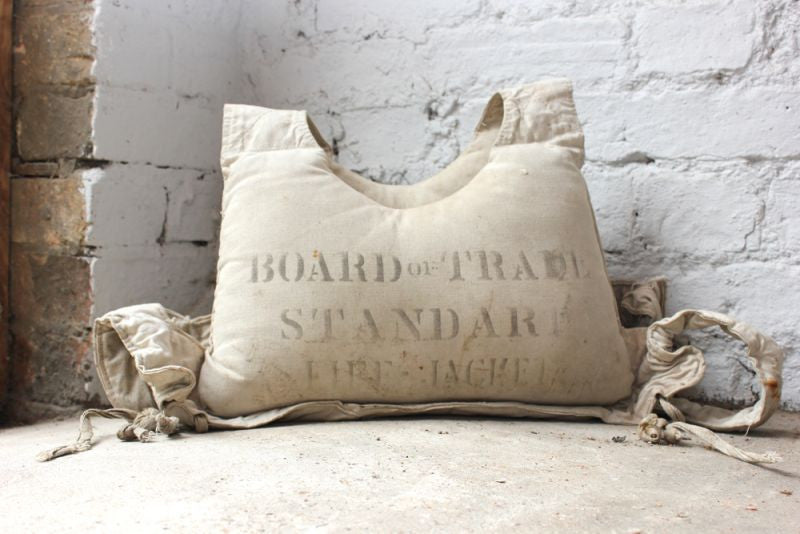 An Early 20thC Canvas Board of Trade Standard Life Jacket From the Vessel Pronto