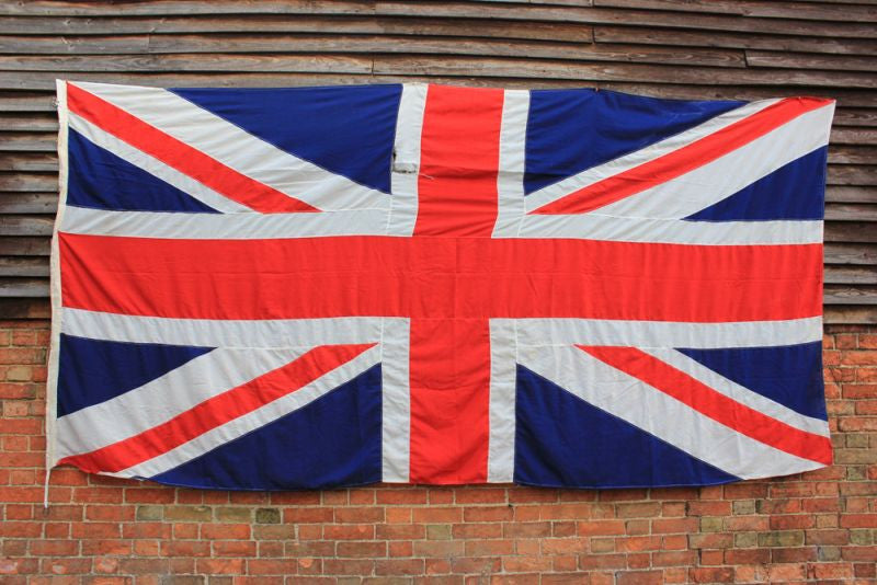 A Massive Appliqué Vintage Union Jack Flag